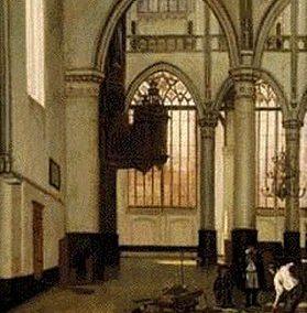 Een onbekende afbeelding van Sweelincks orgel