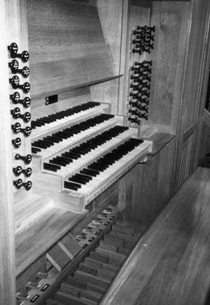 Speeltafel Grenzing-orgel in de kathedraal