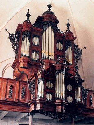 Het Arp Schnitger-orgel in de Jacobikerk te Uithuizen