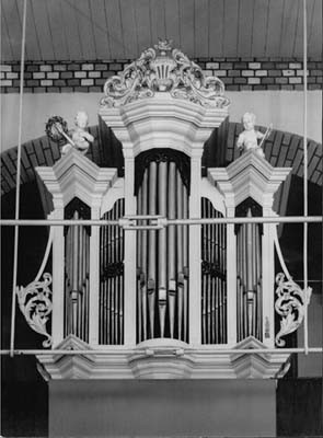 Het voormalige orgel van de Gereformeerde Kerk te Boerakker