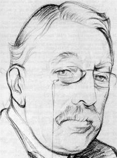 Portret van Sir Charles Villiers Standford omstreeks 1920 door William Rothenstein
