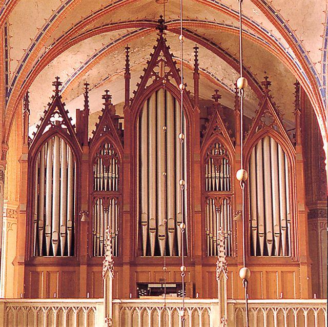 Het Buchholz-orgel in de St.-Nikolai te Stralsund