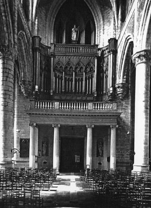 Gent St. Michiel. Organ from De Volder 1817. Photo: Irpa-Kik Brussel