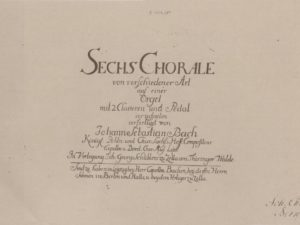 'Sechs Choräle von verschiedener Art' – Part 1: Dating and musical structure by Albert Clement