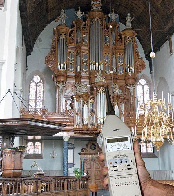 Geluidsbelasting van de organist