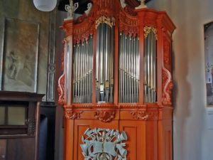 The case of the Seijbel organ in the Nationaal Orgelmuseum by Frans Jespers