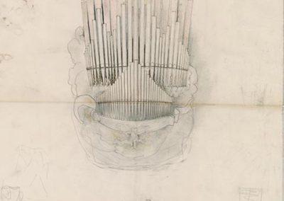 Ontwerp orgel Nederlandse Paviljoen Foto Collectie Het Nieuwe Instituut Rotterdam Archief F.A
