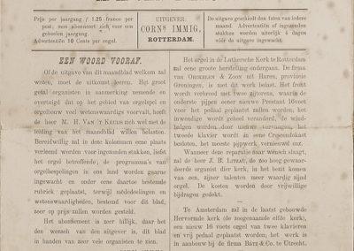 Orgelgebruik in de protestantse kerkdienst tussen 1886 en 1938. Deel 1: het zelfstandig orgelspel in en rond de kerkdienst