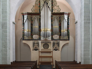 The 15th-century organ in the Andreaskirche in Ostönnen (Germany)