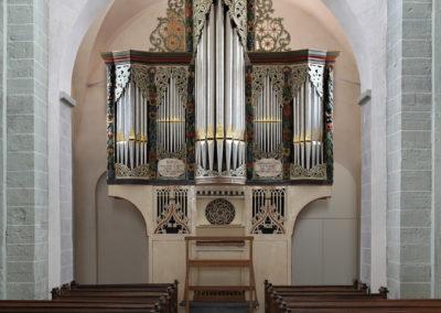 Het vijftiende-eeuwse orgel in de Andreaskirche van Ostönnen (D)