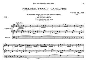 De tempi die César Franck in zijn orgelmuziek noteerde, in het bijzonder in zijn 'Prélude, Fugue et Variation'
